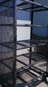 Completed Custom Rack w/Shelving
