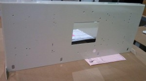 Mounting Panel w/Powder Coat