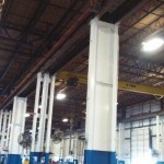 Retrofitted Crane Beam Columns